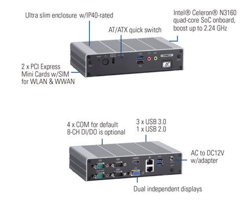 eBOX625-853-FL Embedded Box PC