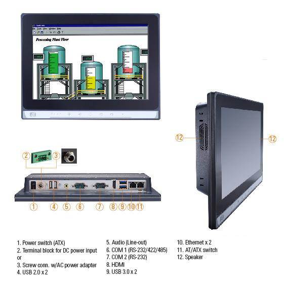 GOT5103W-845 Fanless Touch Panel PC