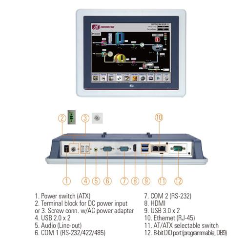 GOT5120T-845 Fanless Touch Panel PC
