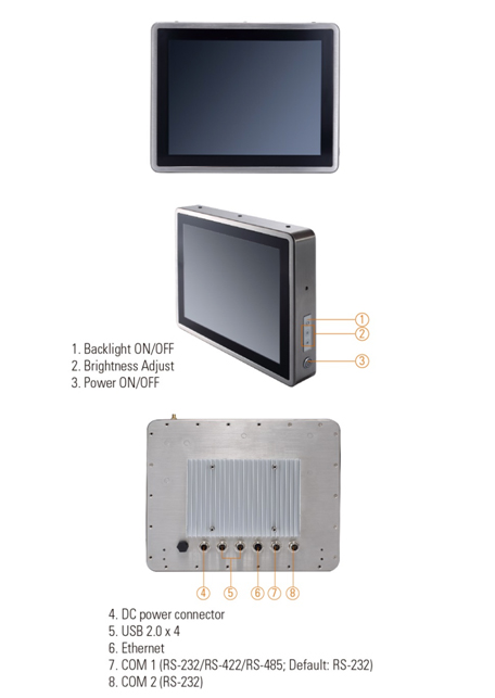 12.1-inch IP66/IP69K Stainless Steel Panel PC