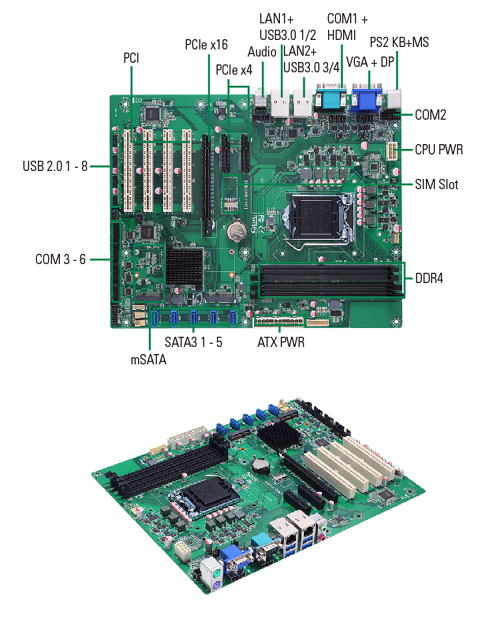 IMB500 Industrial Motherboard