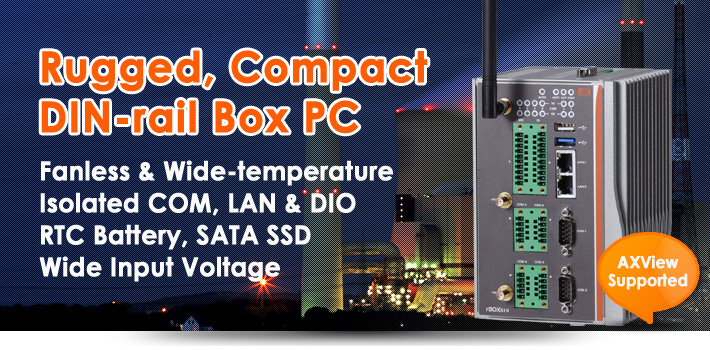 rBOX510-6COM DIN-rail Box PC