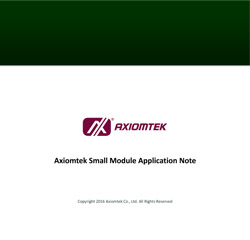 Axiomtek Small Module Application Note